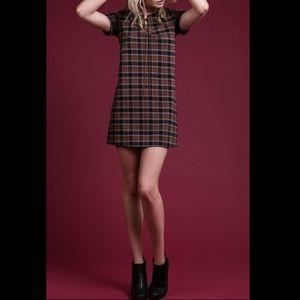 Blu Pepper Plaid Knit Dress S